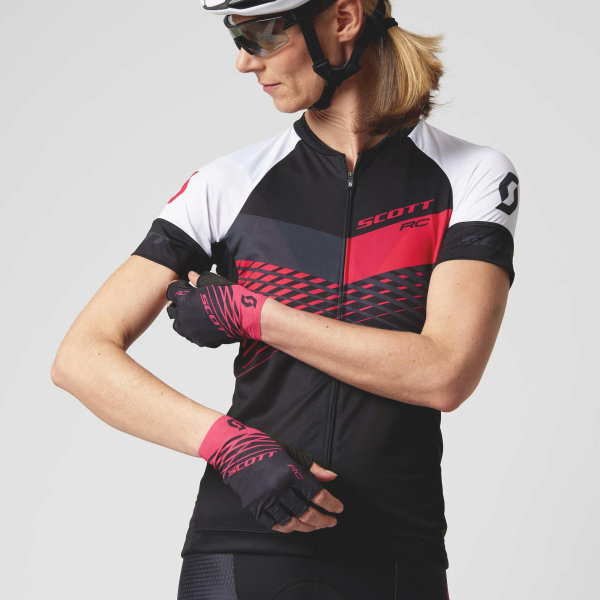 Scott RC Pro Damen-Shirt s/sl black/azalea Pink