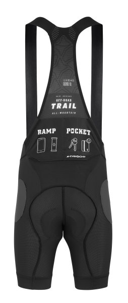 Assos Trail Liner Bib Shorts blackSeries