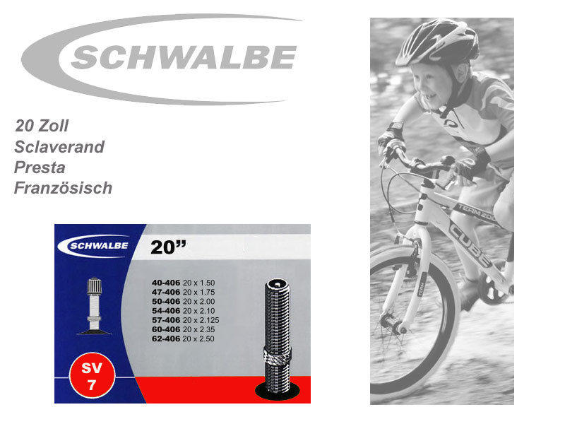 Schwalbe //// Schlauch MTB //// 27,5 Zoll //// 650B //// AV21 //// Autoventil //// 2er SET