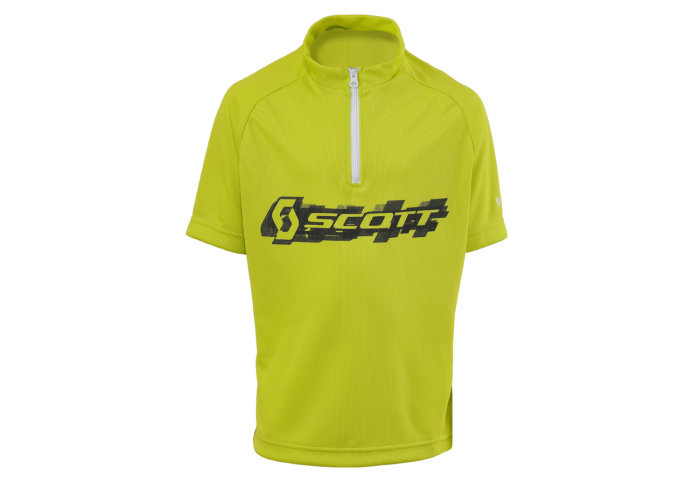 Scott Shirt JR Logo kurzarm lime green